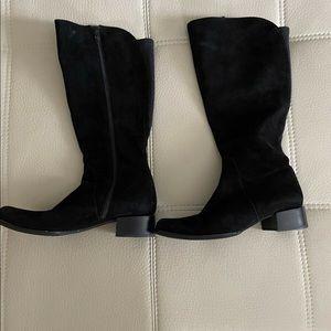 Wittner knee high boots, Black Suede